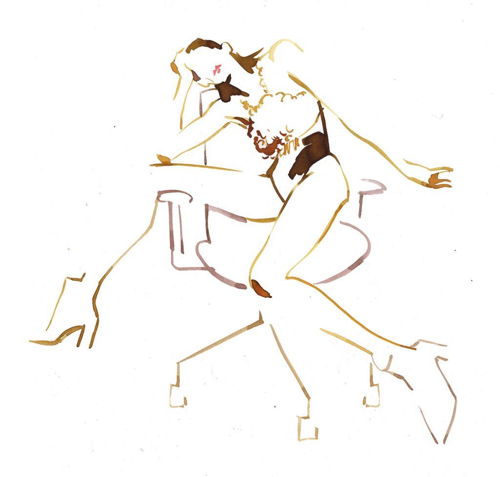 Illustration Live Event Drawing Ami Benton Sequin Theme