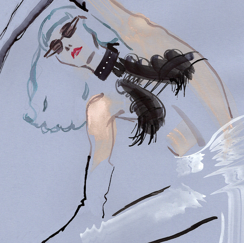Illustration Live Event Drawing Ami Benton Space Punk