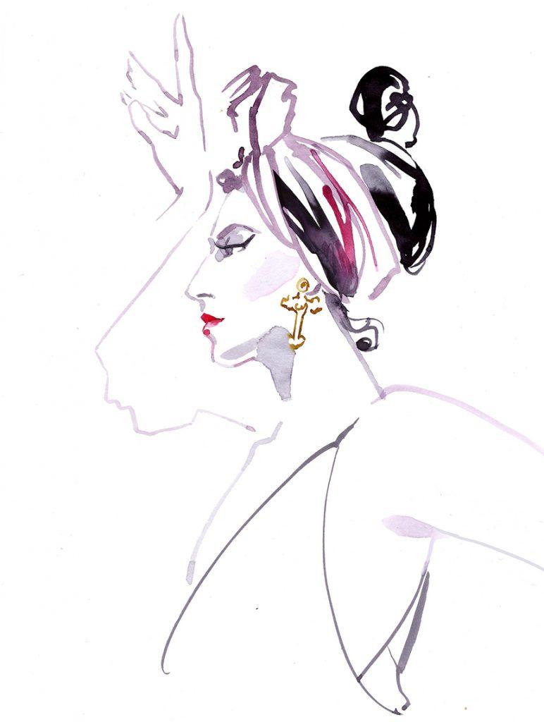 Illustration Live Event Drawing Ami Benton Theme Portrait