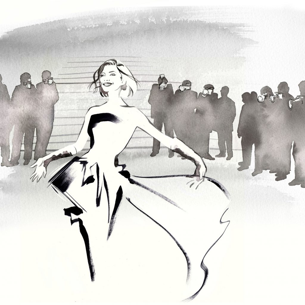 Illustration Projects Chopard Handbags Cannes Scenic
