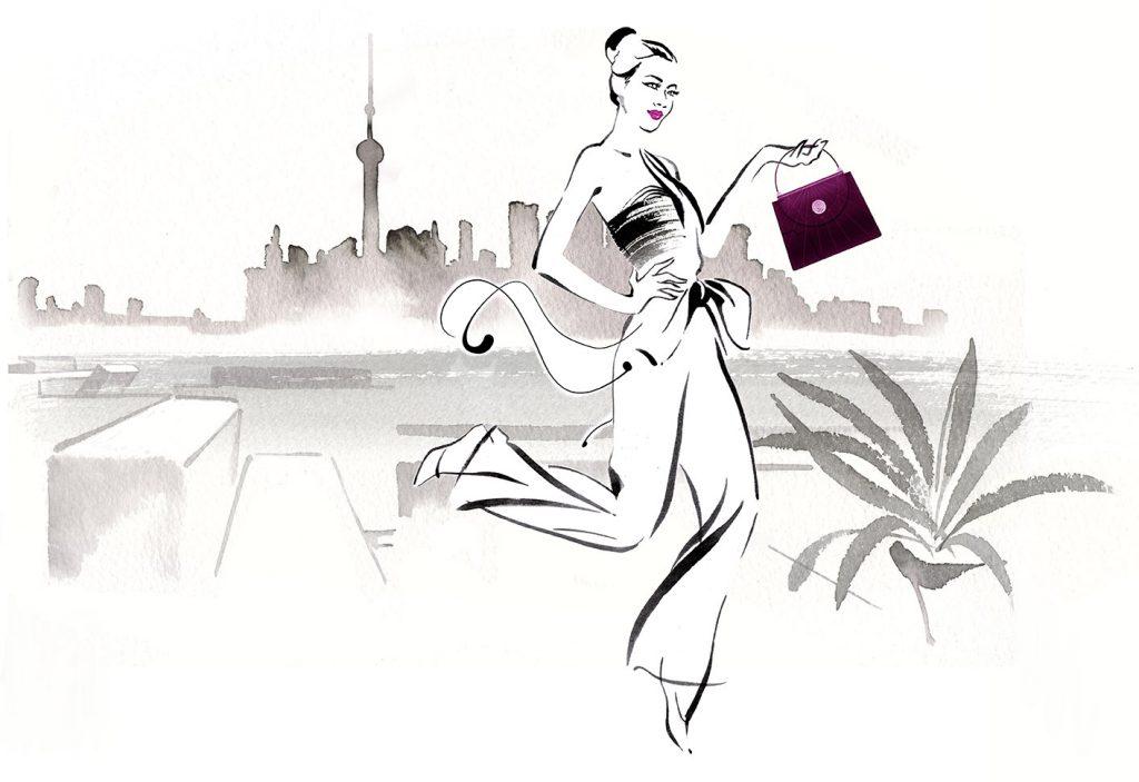 Illustration Projects Chopard Handbags Shanghai Scenic