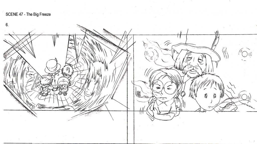 Illustration Story Board Magic Round About Feature Film P6