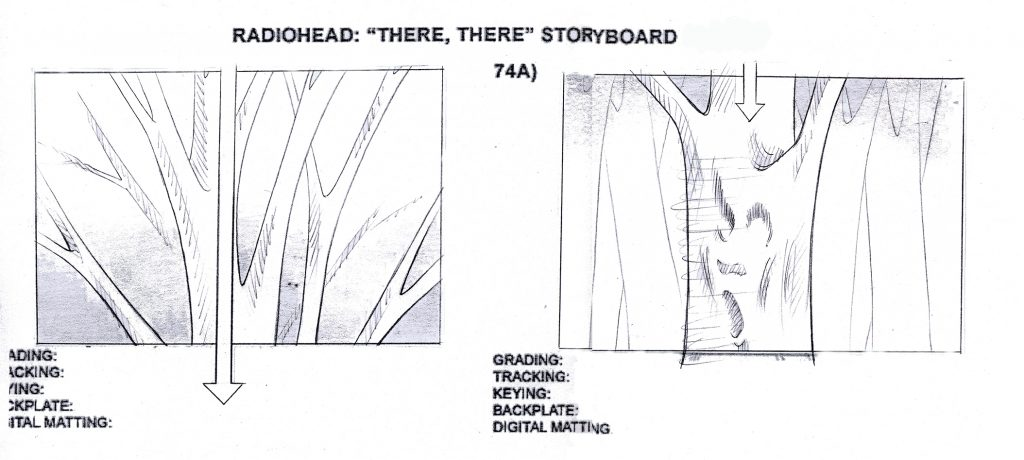 Illustration Storyboard Music Video Radio Head There There Frame 74A