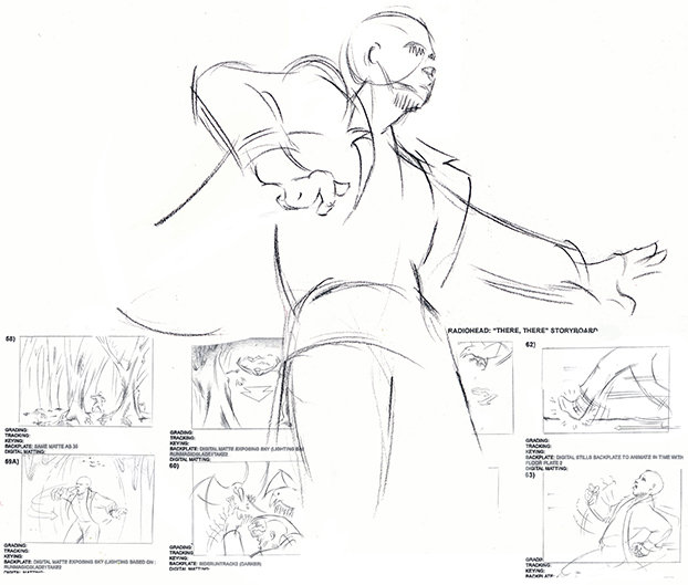 Illustration Storyboard Music Video Radio Head There There