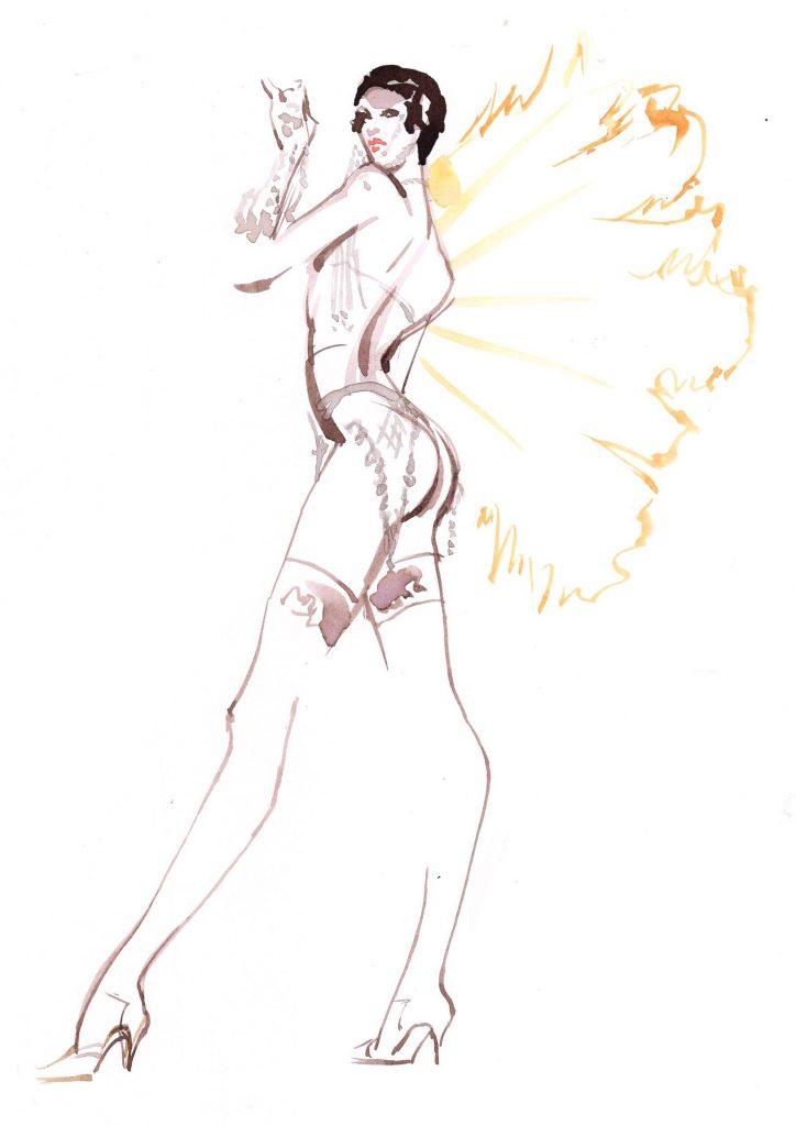 Artwork Showgirl Jmehtas Couture Live Drawing Watercolour