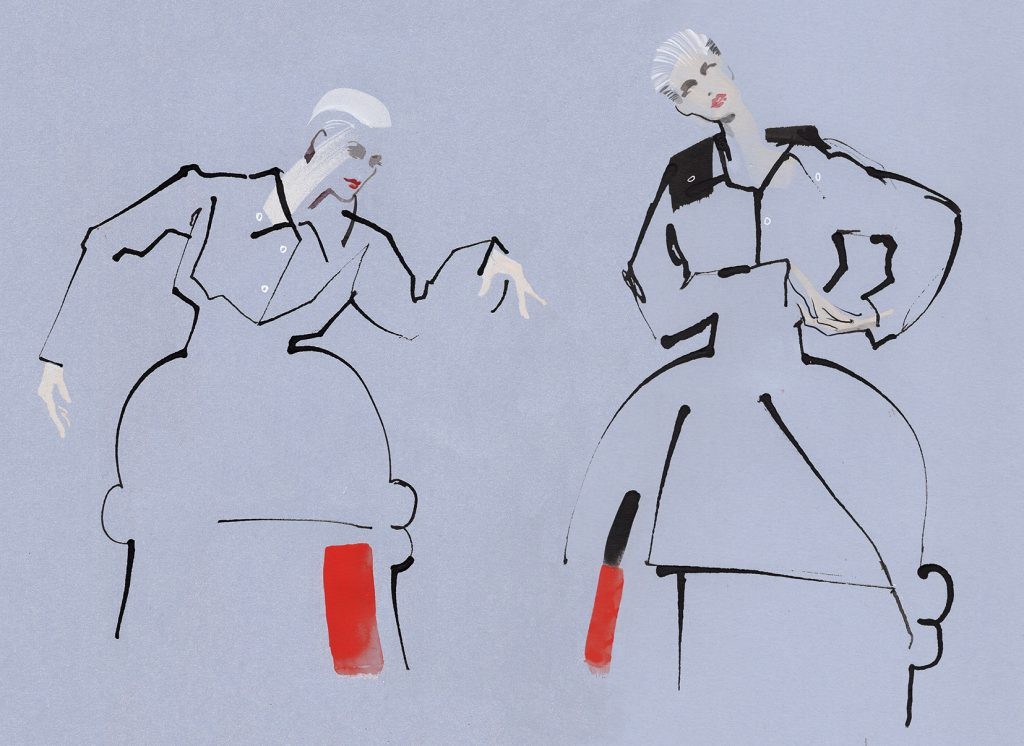 KathyWyatt Live Drawing The Hourglass IA_London Couture