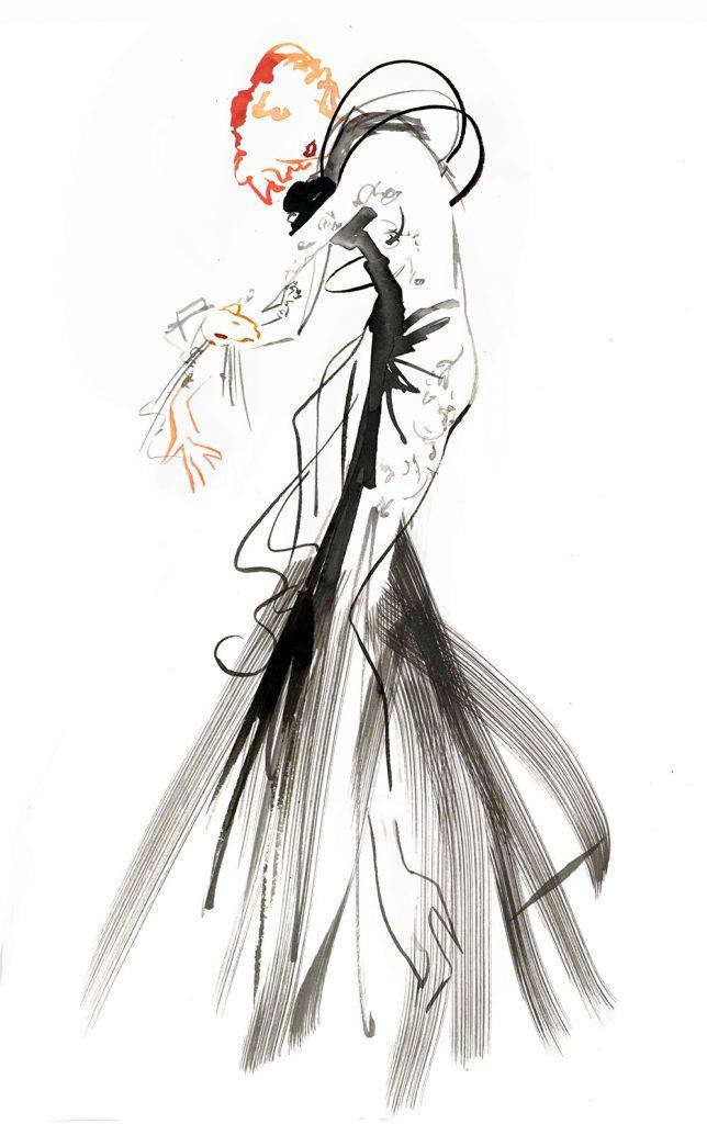 Illustration Live Drawing Cabaret Couture Antonia Nae Couture Natacha Morro 2