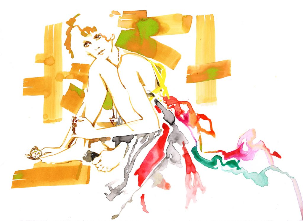 Illustration Live Drawing Cabaret Jenieve Couture Klimt 3