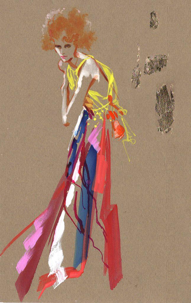 Illustration Live Drawing Cabaret Jenieve Couture Klimt
