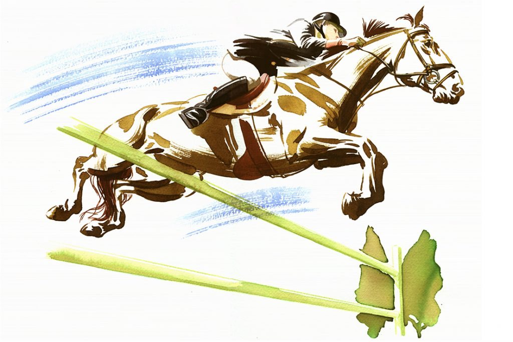 Shop Artwork Horse Racing Watercolour