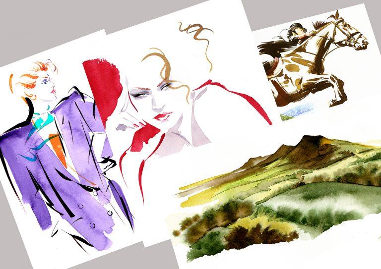 Illustration Shop Originals Giclee Prints Kathy Wyatt