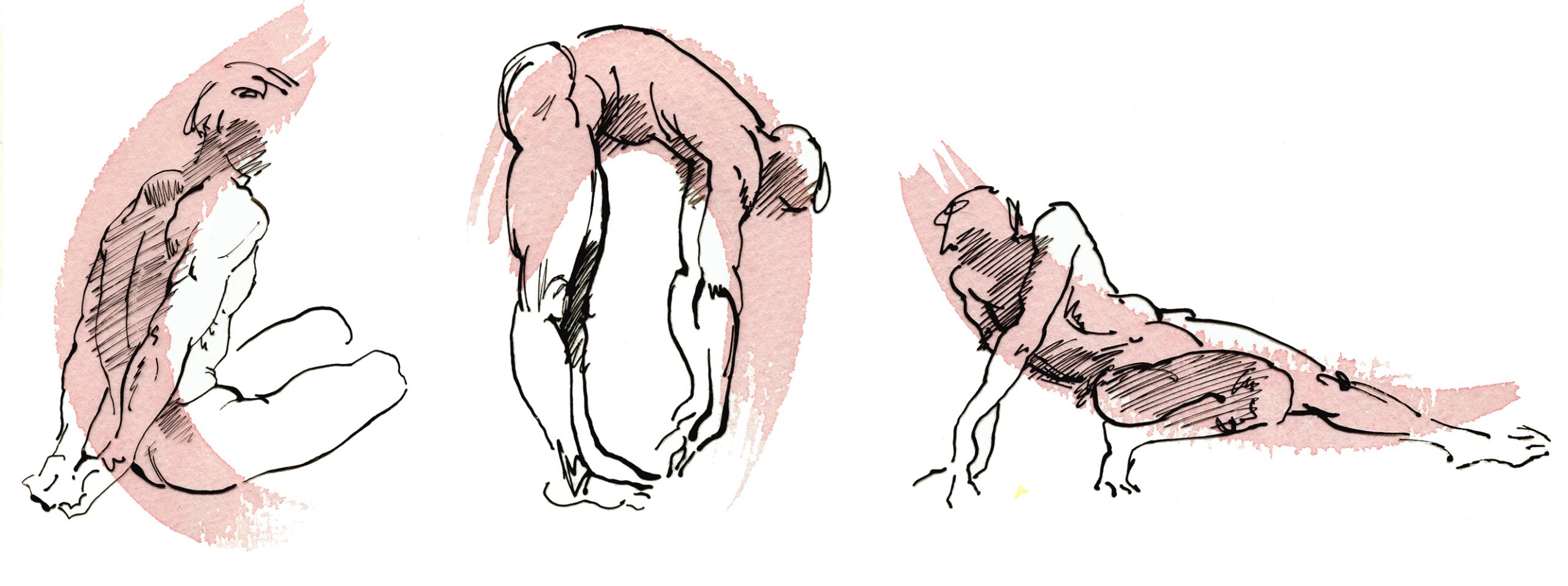 Illustraion Figurative Male Fitness Excercise Toned Traditional Active