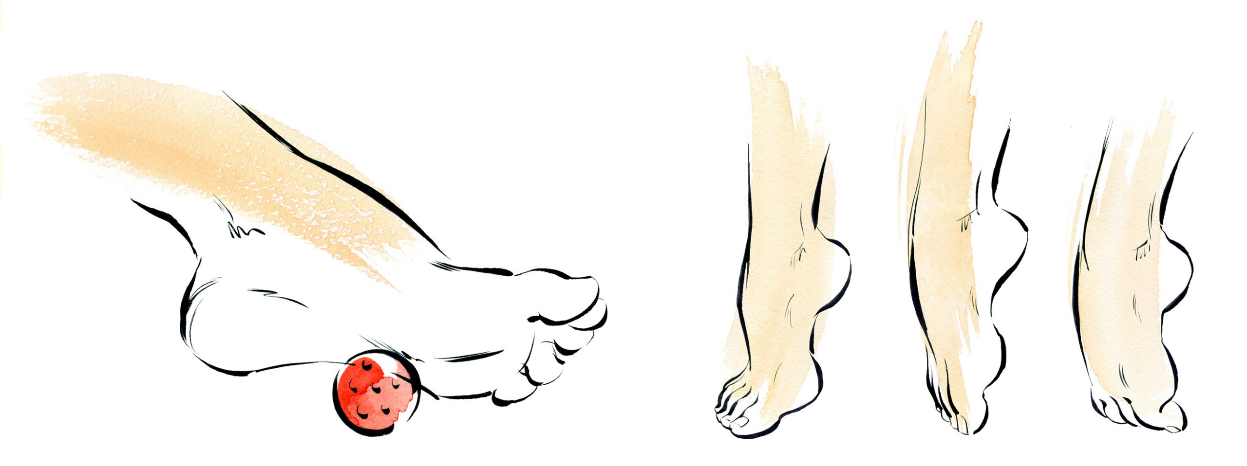 Illustration Medical Health Scholl Foot Excercises Information Lreaflet