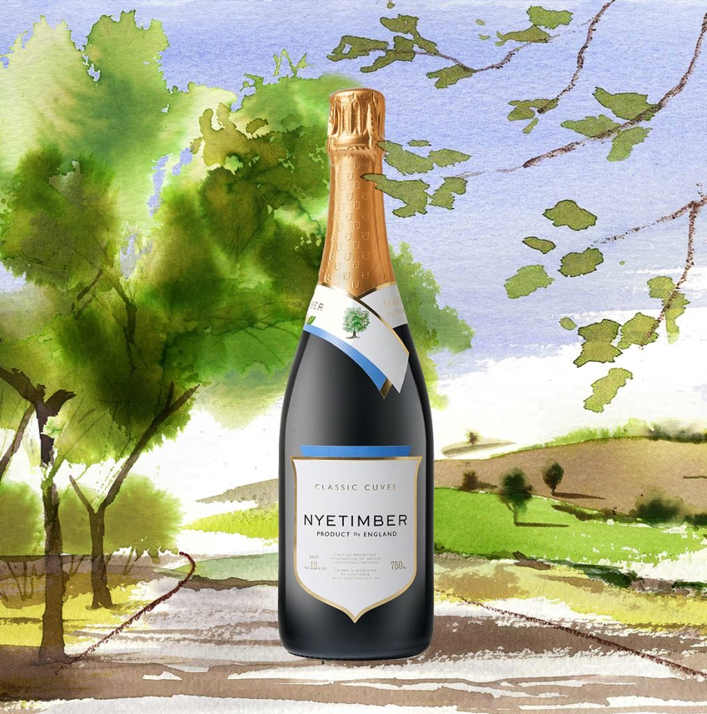 Illustration Projects Packaging Nyetimber Sparkling Wine Wines Online Publicity Crop